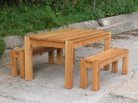 Chunky Rustic Oak Dining Table Rustic Oak chunky oak beam dining