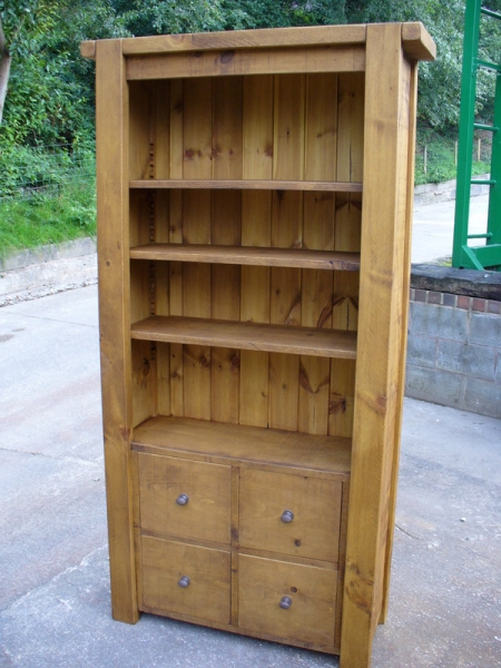 Rustic Chunky bookcase 78