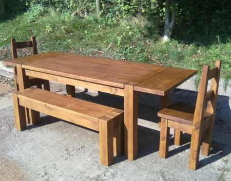 Chunky table with extensions
