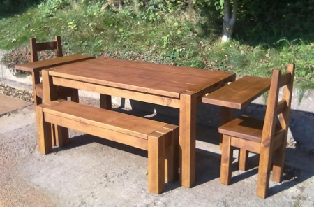 Extension Leaves For Chunky Dining Tables Rustic Plank Furniture