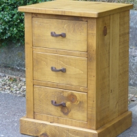 Plank Bedside Table 3 drawer