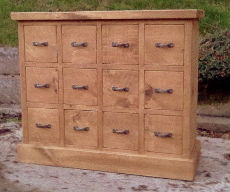 small multi drawer chest with 12 drawers rustic plank