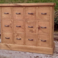 12 drawer small merchants chest