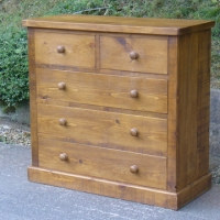 Image shows chest of drawers 2 over 3 48