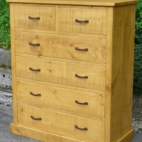 2 over 4 Chest of drawers in light wax colour