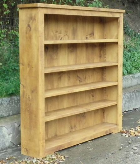 Rustic Plank Wide Bookcase Rustic Plank Furniture