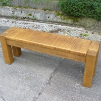 Chunky style pine bench