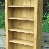 Tall bookcase plank style